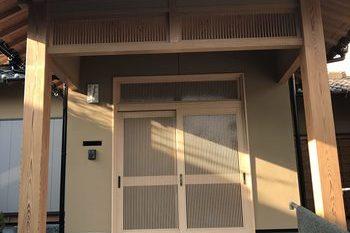 朝倉市S様邸外壁塗装、木部塗装の施工後画像