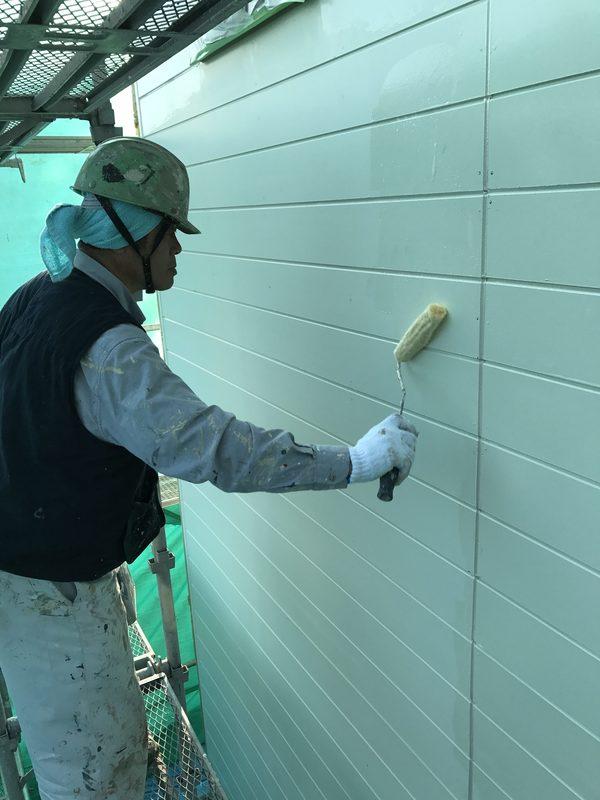 朝倉市K様、事務所、屋根、外壁塗装