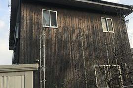 久留米市田主丸町  G様邸外壁(木板)塗装の施工前画像