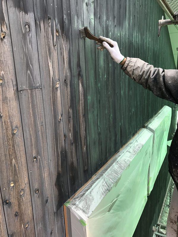 久留米市 G様邸外壁(木板)塗装