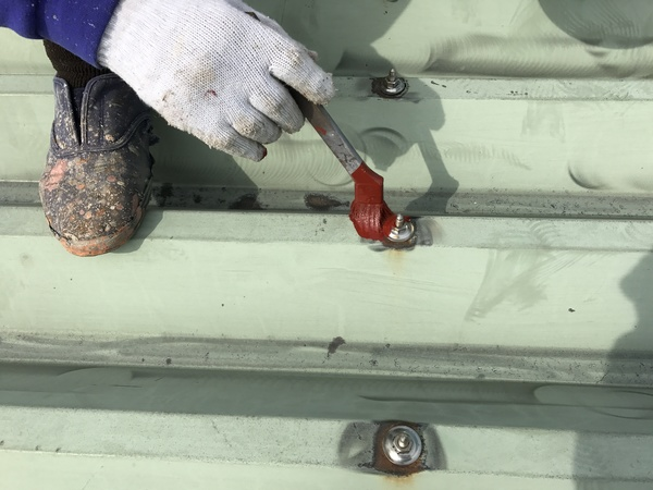 久留米市田主丸町S様 折板屋根、外壁、シャッター塗装