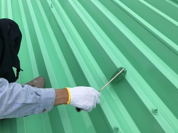 久留米市田主丸町S様 折板屋根、折板壁 塗装