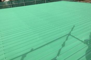 久留米市田主丸町S様邸 折板屋根塗装の施工後画像