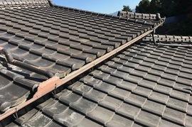 久留米市田主丸町 屋根瓦塗装の施工前画像