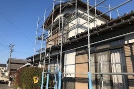 久留米市田主丸町 S様邸 外壁塗装、折板屋根塗装の施工前画像