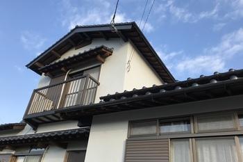 久留米市田主丸町 S様邸 外壁塗装、折板屋根塗装の施工後画像