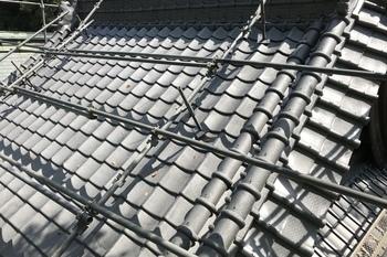 朝倉市 神社、屋根塗装の施工後画像
