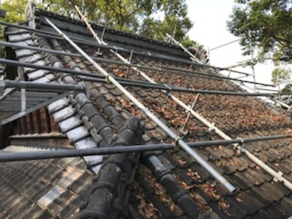 朝倉市 神社 屋根塗装