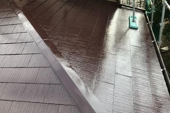 朝倉市 I様邸 屋根塗装の施工後画像