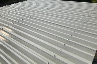 朝倉市 倉庫 折板屋根塗装