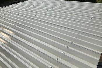 朝倉市 倉庫 折板屋根塗装の施工後画像