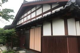 久留米市田主丸町 T様邸外部木部塗装の施工前画像