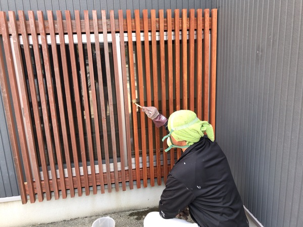 八女市 A様邸 外部木部塗装