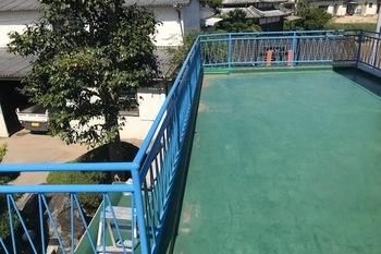 朝倉市 鉄製手摺り部分塗装の施工後画像