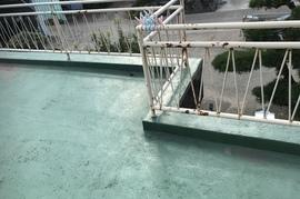 朝倉市 鉄製手摺り部分塗装の施工前画像