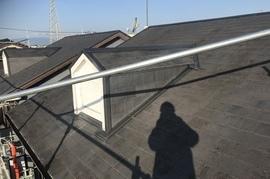 朝倉市アパート屋根塗装の施工前画像