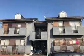 朝倉市アパート外壁塗装の施工前画像