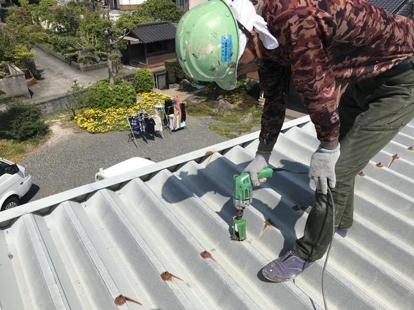 久留米市T様 倉庫外壁塗装、屋根塗装