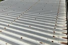久留米市T様 倉庫屋根塗装の施工前画像