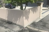 久留米市T様邸 門柱、塀、壁塗装