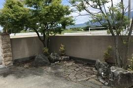 久留米市T様邸 門柱、塀、壁塗装の施工前画像