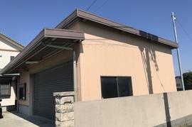 久留米市T様邸 車庫 外壁塗装の施工前画像