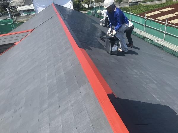 朝倉市 アパート外壁塗装、屋根鉄板