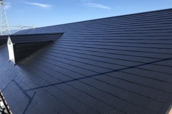 朝倉市 アパート屋根塗装の施工後画像