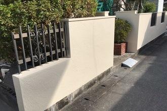 久留米市 S様邸 玄関塀塗装