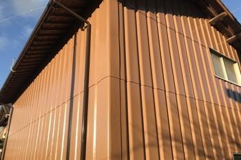 久留米市 T様倉庫外壁塗装の施工後画像