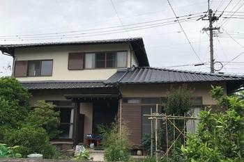 久留米市B様邸、外壁塗装、折板屋根塗装の施工後画像
