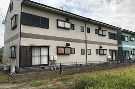 朝倉市外壁塗装、屋根塗装 アパート塗装の施工前画像