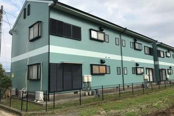 朝倉市外壁塗装、屋根塗装 アパート塗装の施工後画像