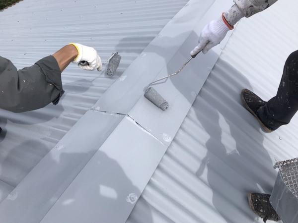 久留米市N様邸屋根塗装、倉庫屋根塗装