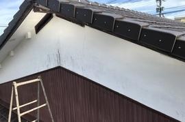 久留米市田主丸町A様邸、外壁塗装の施工前画像