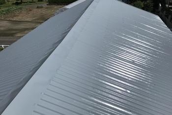 久留米市N様屋根塗装、倉庫屋根塗装の施工後画像