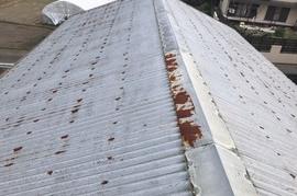 久留米市N様屋根塗装、倉庫屋根塗装の施工前画像